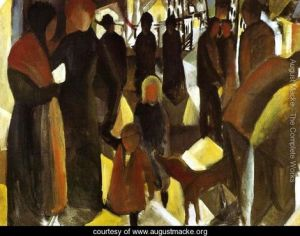 """Leave-Taking"" by August Macke"